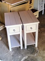 pair chalk painted night stands end tables in Camp Lejeune, North Carolina