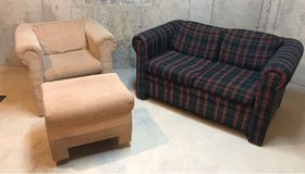***Love seat and chair with ottoman in Joliet, Illinois