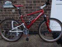 Retro Orange X2 Full Suspension Mountain Bike in Lakenheath, UK