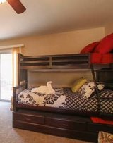 Solid Wood Single Bunk over Full with Lower Single Trundle in 29 Palms, California