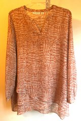 Women's Susan Graver Blouse Rust Color Size 10 Brand New Condition! in Beaufort, South Carolina