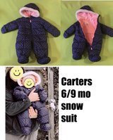 6/9mo Carters snow suit in Westmont, Illinois