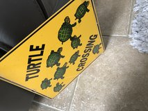 Turtle Crossing Metal Sign in Byron, Georgia