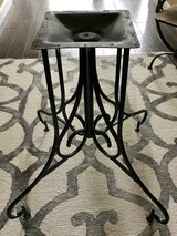 Wrought iron table base in Kingwood, Texas