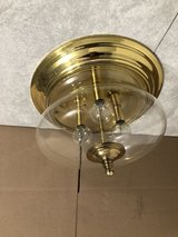 Brass 3 Bulb Ceiling Light Fixture in Orland Park, Illinois