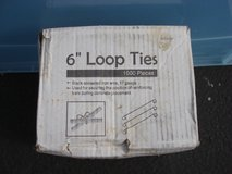 NEW BOX OF 6 INCH  LOOP TIES (1000PCS.) in Sugar Grove, Illinois