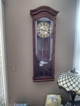 Vintage Tall Elgin Wall Clock w/pendulum and Westminster Chimes in Bartlett, Illinois