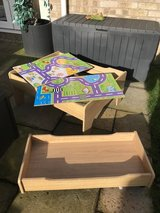 Wooden play table in Lakenheath, UK