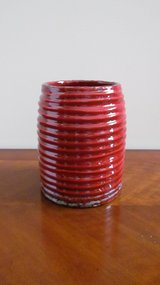 Red Ceramic Vase in Oswego, Illinois