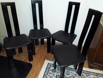 Dining Room Chairs Piano Black 4 Piece Set * Cleaning out sale... in Wiesbaden, GE