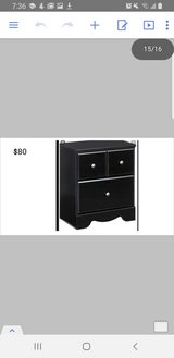 black night stand in San Diego, California