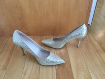Sparkling Silver Dress Pumps in Glendale Heights, Illinois