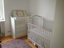 Hand painted crib, dresser and pictures. in Wiesbaden, GE