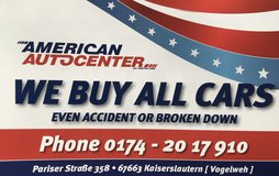 Selling your car? in Ramstein, Germany