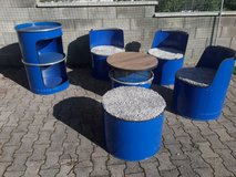 barrel furniture seating group bar garage balcony in Ramstein, Germany