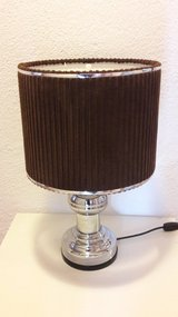 Vintage table lamp 60s 70s mid-century chrome XL Space Original chrome lamp in Ramstein, Germany