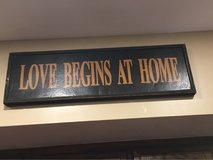 Love Begins at Home Sign in Bolingbrook, Illinois