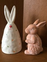Ceramic Easter Bunnies in Batavia, Illinois