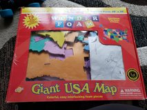 Giant USA puzzle map foam in Joliet, Illinois