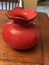 """Southern Living at Home Cinnabar Red Glaze 6 1/2"""" Vase in Kingwood, Texas"""