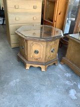 Vintage Octagon Shaped End Table, 2 available in Alamogordo, New Mexico