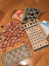 Vintage BINGO cards and markers in Naperville, Illinois