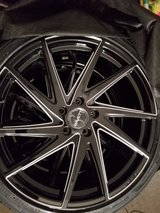 20 inch Ravetti Gloss Black Milled Rims with Tires in Camp Lejeune, North Carolina