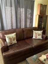Couch/ Leather couch in Camp Pendleton, California