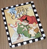 Vintage 1988 The Real Mother Goose Nursery Rhyme Hard Cover Over Sized Book in Joliet, Illinois