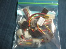 4Pin Molex/Sata Power Cbl Conctrs (11 count) in Kingwood, Texas