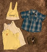 Baby Boys 18-24 mos: Chick Romper, Shirt, Sandals in Fort Campbell, Kentucky