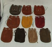 Handmade Draw String Leather Bags for Make-up Trinkets Marbles and More ~ Quality ~ Assortment ~... in Batavia, Illinois