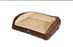 Serta Orthopedic Quilted Dog Couch Bed, Mocha in Camp Lejeune, North Carolina