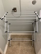 White Metal Drying Rack Laundry Storage Organizer Foldable in Houston, Texas