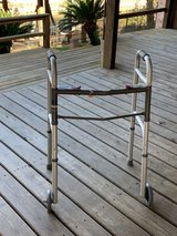Medical Folding Walker with Wheels Adjustable Height & Detachable Legs LP Only in Kingwood, Texas