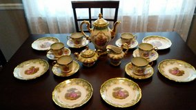 Gold trimmed Tea Set serves 6 in Warner Robins, Georgia