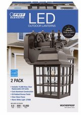 LED coach style wall light fixture 2 pack with bulbs in Nellis AFB, Nevada