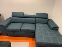 ?? ??$39 down payment??- Ferriday Blue Storage Sleeper Sectional | 8228 in Fort Meade, Maryland