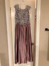 Formal Gown - Mauve satin with lace in Houston, Texas