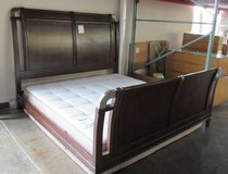 Dark Wood Tone King or California King Bed Frame in Aurora, Illinois