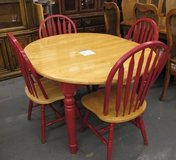 Red Accented Wood Dining Set in Westmont, Illinois