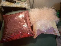 pair of sequined pillows in Tacoma, Washington