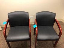 Leather & Wood Office Chairs 4 available in Chicago, Illinois