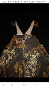Hunting camo overalls in The Woodlands, Texas