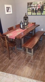 Dining room table with 4 chairs and bench in Conroe, Texas