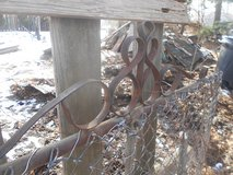 Vintage Chain Link Garden Gates with Scroll work in Bolingbrook, Illinois