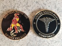 Iron Man Corpsman Challenge Coin in Camp Pendleton, California
