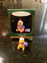 Hallmark Miniature Ornament Winnie the Pooh Honey of a Gift in Sandwich, Illinois