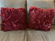 2 Red Pier 1 Decorative Pillows in Kingwood, Texas