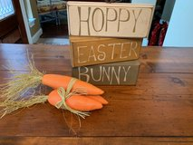 Easter Wood Sign Decor and Carrot Bundle in Kingwood, Texas